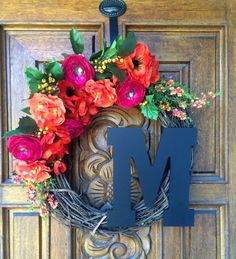 Hey, I found this really awesome Etsy listing at https://www.etsy.com/listing/400517719/bright-summer-monogram-wreath-monogram