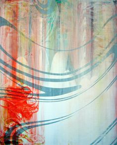 "Tremelo - mixed media on canvas - 48""x60"" - 2010  Harold Hollingsworth"
