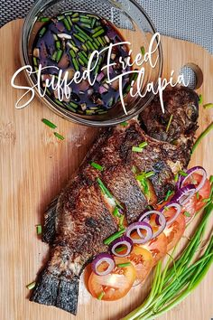 Stuffed Fried Tilapia with Pinoy Recipes. Tilapia Recipes, Easy Chicken Recipes, Fish Recipes, Snack Recipes, Filipino Dishes, Filipino Recipes, Filipino Food, Fried Tilapia, Fried Fish