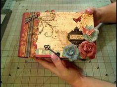 """Scrapbook Mini Album: Prima """"Pastiche"""" Paperbag Album"""