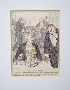 Karikatur °nörgeliger gast° Original um 1930 von Sammel-Leidenschaft auf DaWanda.com