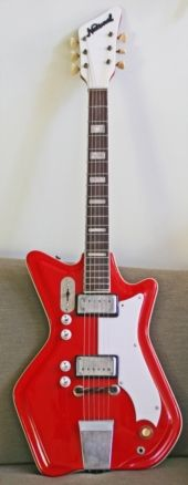 Jack White's guitar - 1964 JB Hutto Montgomery Airline. YOU WILL BE MINE.