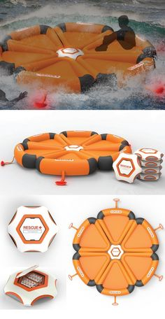 #HEXA, named for its 6-sided shape, is a revolutionary life-saving device for use at #sea. Because the nature of ship accidents varies greatly, both crew and passengers will tend to panic even with extensive training. For these moments, #HEXA requires only that it be dropped in the water where it will automatically activate upon contact. #YankoDesign #Outdoor #Rescue #Product