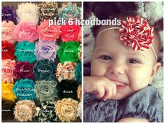 Sale...PICK 6 HEADBANDS, Baby Girl Headbands, Infant Headbands, Toddler Headbands, Newborn Headbands, Girls Headbands, Baby Headbands, Baby by SecretBlossom on Etsy https://www.etsy.com/listing/130285750/salepick-6-headbands-baby-girl-headbands