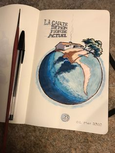Ball pen and acrylic work on Inspired by the planet I've been isolated on for 48 days Moleskine, Planets, Music Instruments, Inspired, Day, Inspiration, Musical Instruments, Biblical Inspiration, Plants