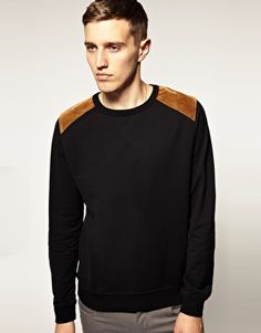 ASOS Sweatshirt With Shooting Patches  $46.55 www.asos.com