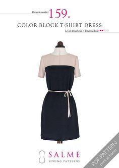 Digital Sewing Pattern - Color Block Dress