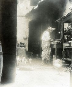 https://flic.kr/p/cuueKm | Cook in Kitchen, St. Pierre, Martinique, ca 1890 | Item:  Title: Cook in Kitchen, St. Pierre, Martinique Photographer:  Publisher: Publisher#: Year: ca 1890 Height:  Width:  Media: printing out paper Color: B/W  Country: Martinique Town: St. Pierre Notes:  For information about reproducing this image, visit: THE CARIBBEAN PHOTO ARCHIVE