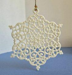 Lenox 1996 SNOW FANTASIES Snowflake Ornament 1st In Series FLAWLESS no box