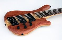 Kona Select 5 String Exotic Wood Electric Bass Guitar by KONA Bass Guitars, Acoustic Guitars, Electric Guitars, Musical Instruments, Musicals, Exotic, Guns, Wood