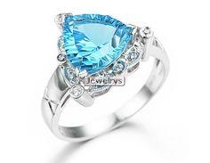 tennis Ring Gold Topaz Diamond Blue White Gemstone baguio
