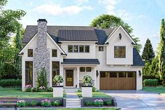 Cottage Style House Plans, Cottage Floor Plans, Family House Plans, Cottage Style Homes, Craftsman House Plans, Modern Cottage Style, Brick House Plans, Family Houses, House Plans With Porches