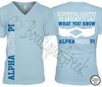 Alpha Delta Pi Throw Tee - ΑΔΠ Collection. Design Exclusive to BoutiqueGreek.com
