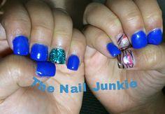 Simple blue gel nails
