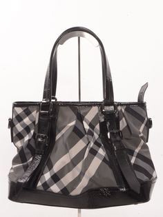 Burberry Beaton Burgundy Quilted Patent Leather Tote | Burberry ...