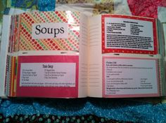 This cook / recipe book is cute and is made from a photo album.