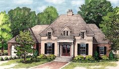 Plan 48033FM: Petite French Cottage | Pinterest | French country ...