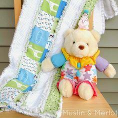 Make a stripey rag quilt!