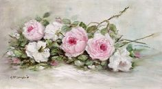 Original Painting on ply panel, Laying Roses study