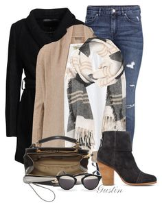 fall by stacy-gustin on Polyvore featuring N.Peal Cashmere, American Vintage, mbyM, H&M, rag & bone, Chloé, Christian Dior, Madewell and ootd