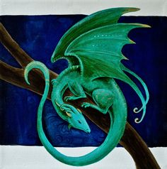 Nocturnal Dragon by starwoodarts.deviantart.com on @deviantART - Acrylic