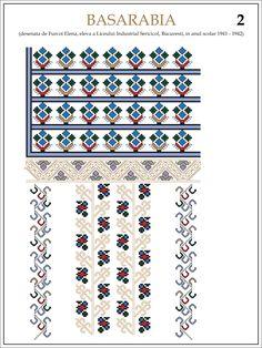 Modele de  ii Romanesti   din caietul elevei  Furcoi Elena, de la Liceul Industrial Sericicol Bucuresti,   care a desenat  aceste pla...