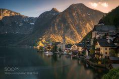 Hallstatt by ludwigriml  lake mountains church harmony alps tranquility austrian…
