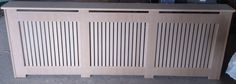 Mdf radiator cover/cabinet Vertical Slatt Design,made To Measure | eBay