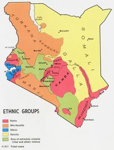Languages:Kenya has a lot of ethnic groups. The chart above shows how many and what ethnic groups are there.