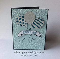 Balloon Adventures & Balloon Pop-Up Thinlits Dies birthday card.  Mary Fish, Stampin' Up! Demonstrator.  1000+ StampinUp & SUO card ideas.  Read more http://stampinpretty.com/2016/12/inspired-by-color-balloon-birthday-card.html