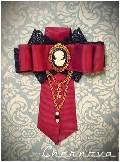 Купить Стильные броши - украшения ручной работы, офисный стиль, мода, брошь ручной работы Ribbon Jewelry, Ribbon Headbands, Ribbon Bows, Neck Accessories, Steampunk Accessories, Women Bow Tie, Gothic Lolita Fashion, Brooches Handmade, Jewelry Making Tutorials