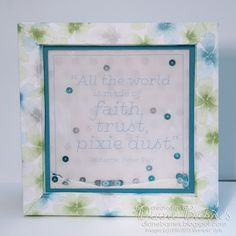 Peter Pan box frame card with a dash of pixie dust includes stand in back