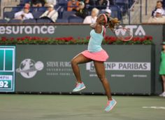 #17-Seed Sloane Stephens sets up a 3rd rd match v #11-Seed Ana Ivanovic at the BNPP Open. 3/9/14