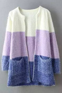 Warm Outfits, Pretty Outfits, Cool Outfits, Knitwear Fashion, Knit Fashion, Big Knits, Crochet Cardigan, Open Front Cardigan, Modest Fashion