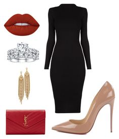 """""""Untitled #8"""" by pwettieqirlkim on Polyvore featuring Christian Louboutin, Lime Crime, Yves Saint Laurent and Capwell + Co"""