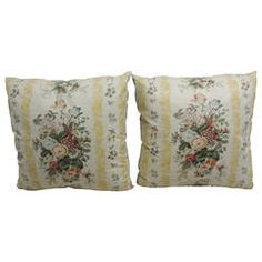 Pair of Floral Chintz Pillows