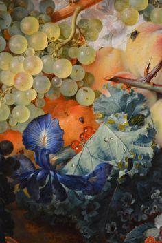 Detail: Fruit Piece by Jan van Huysum |