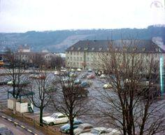 kitzingen germany | Emery Barracks looking south - parking lot and 6-52nd Arty barracks. Army Day, Us Army, Kitzingen Germany, Fort Lee, Gas Turbine, Parking Lot, Frankfurt, Troops, Castles