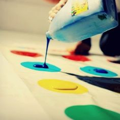 Play a hilariously messy game of Twister!