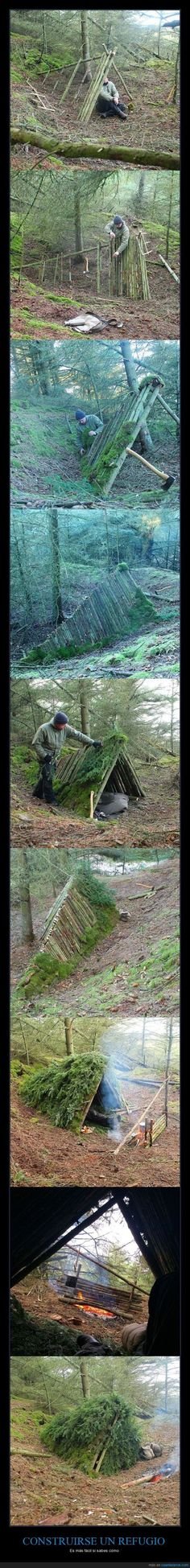 Wilderness Survival Merit Badge...thought into action.