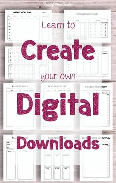 Create passive income with printables you designed yourself! Read my journey and learn how you can do … Printable Planner, Printables, Creating Passive Income, Craft Business, Business Notes, Business Video, Web Design, Planner Inserts, Bullet Journal