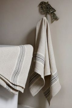 Grecian Towel. Cotton and Linen. Made in SA.