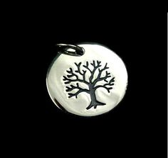 Sterling Silver Tree of Life Small Etched by SilverCityBeads