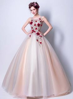In Stock:Ship in 48 Hours Ball Gown Pink Gray Tulle Embroidery Weddign Dress Unique Prom Dresses, Pretty Dresses, Simple Dresses, Buy Wedding Dress, Wedding Dresses, Evening Dresses Online, Princess Ball Gowns, Quince Dresses, Ball Gowns Prom