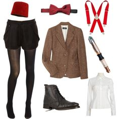 """""""Female Eleventh Doctor"""" -I still don't watch doctor who I just freakin love the outfit, wish the suspenders would fit over my boobs though *sigh*"""