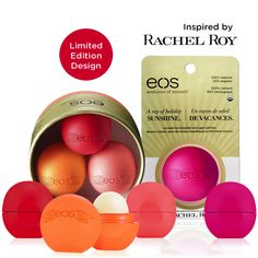 "Introducing our new collection with 4 new limited edition flavors inspired by designer @Rachel_Roy! New flavors include Strawberry Kiwi, Orange Blossom, Pink Grapefruit, and Wildberry! All these lip balms have special ""wings"" designed by Rachel! Get yours now at Ulta and evolutionofsmooth.com! More retailers to be announced soon!"