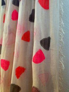 Handpainted foulard. By Tulip