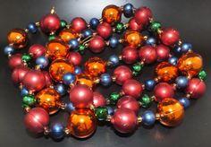 Gablonzer Christbaumschmuck - Weihnachtsbaumkette 180cm - Multicolor