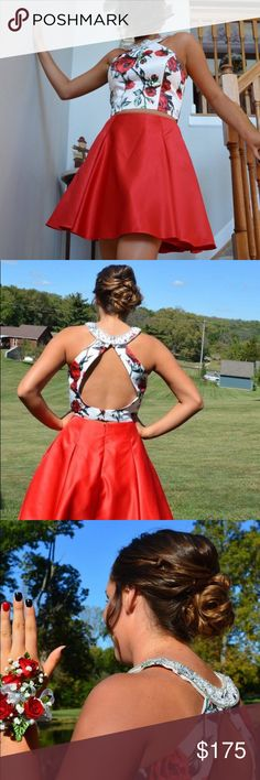 Homecoming dress from Memories. Purchased from Memories. Paid $220 altered but can be taken out.  Dry cleaned.  Very nice Dresses Prom