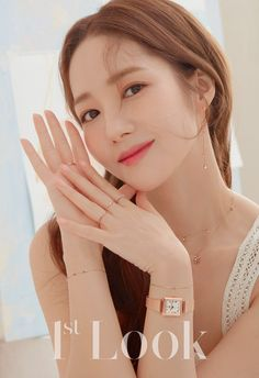 Look' released gorgeous photos of Park Min Young. The actress wore simple yet stylish jewelry that elegantly adorned her look. Park Min Young looked beautiful and pure in the warm-like photoshoot! Korean Actresses, Asian Actors, Korean Actors, Park Min Young, Korean Beauty Girls, Korean Girl, Asian Beauty, Black Pink ジス, Sung Kyung